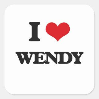 I Love Wendy Square Sticker
