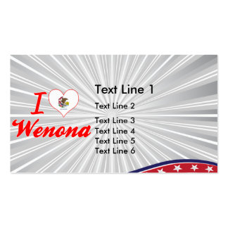 I Love Wenona, Illinois Business Card Template
