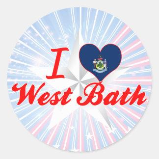 I Love West Bath, Maine Sticker