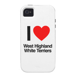 i love west highland white terriers vibe iPhone 4 covers