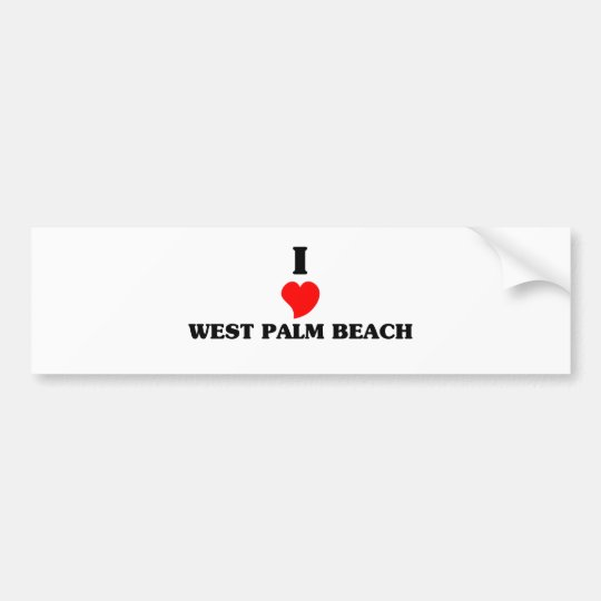 I love West Palm Beach Bumper Sticker
