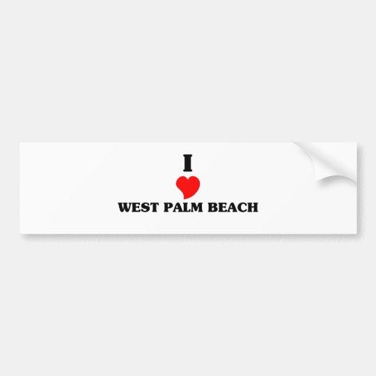 I love West Palm Beach Bumper Sticker