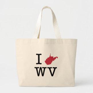 I Love West Virginia Canvas Bag