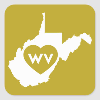 I Love West Virginia State (White) Stickers
