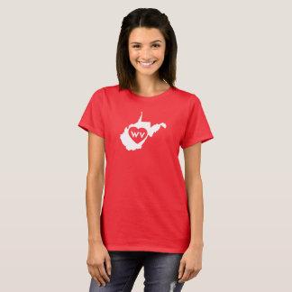I Love West Virginia State (White) Women's T-Shirt