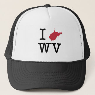 I Love West Virginia Trucker Hat