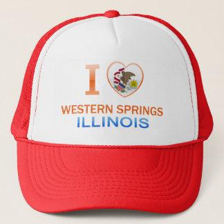 I Love Western Springs, IL Trucker Hat