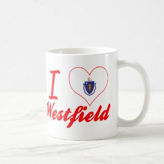 I Love Westfield, Massachusetts Basic White Mug