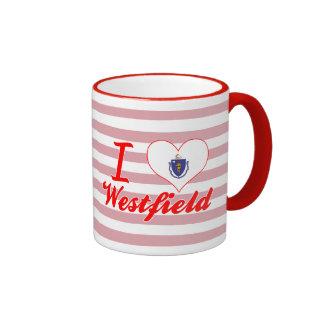 I Love Westfield, Massachusetts Ringer Mug