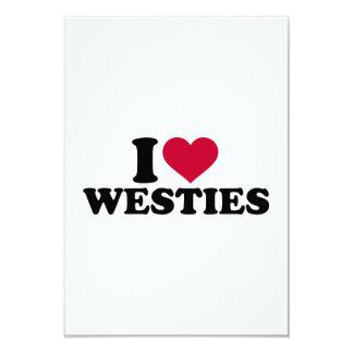 I love Westies 3.5x5 Paper Invitation Card