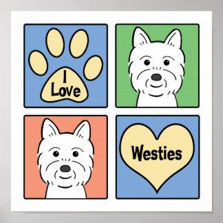 I Love Westies Poster