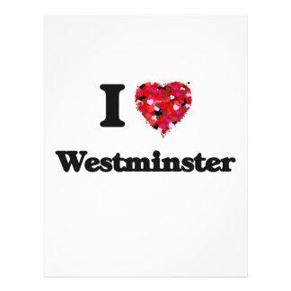 I love Westminster Colorado 21.5 Cm X 28 Cm Flyer