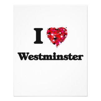 I love Westminster Colorado 11.5 Cm X 14 Cm Flyer