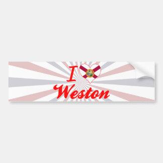 I Love Weston, Florida Bumper Sticker