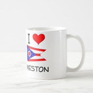 I Love Weston Ohio Basic White Mug