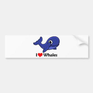 I Love Whales Bumper Sticker