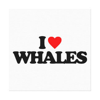 I LOVE WHALES GALLERY WRAP CANVAS