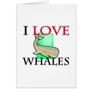 I Love Whales Cards