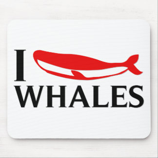 I Love Whales Mouse Pad