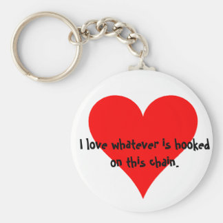 I love whatever is hooked on this chain basic round button key ring