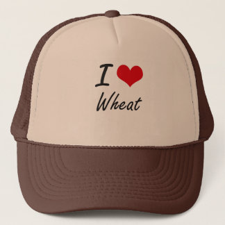 I Love Wheat artistic design Trucker Hat
