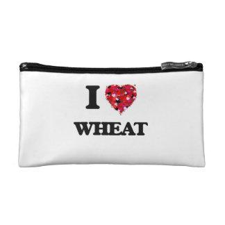 I love Wheat Cosmetic Bag