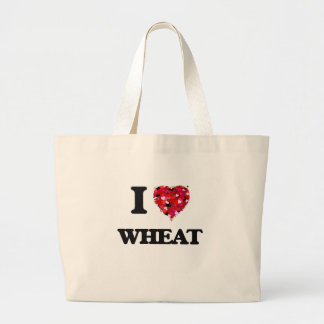 I love Wheat Jumbo Tote Bag