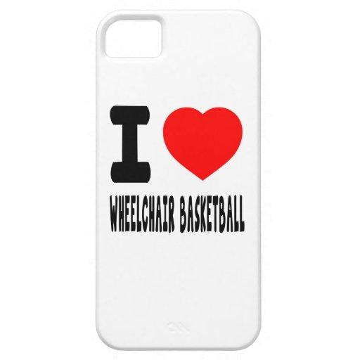 I Love Wheelchair Basketball iPhone 5 Case