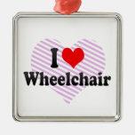 I love Wheelchair Christmas Tree Ornaments