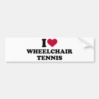 I love wheelchair tennis bumper sticker