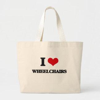 I love Wheelchairs Jumbo Tote Bag