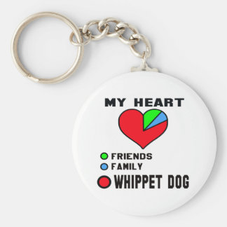 I love Whippet. Basic Round Button Key Ring