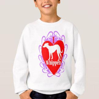 I Love Whippets  B Sweatshirt