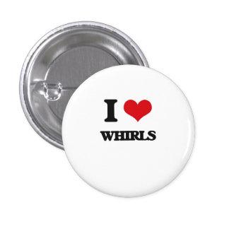 I love Whirls 3 Cm Round Badge