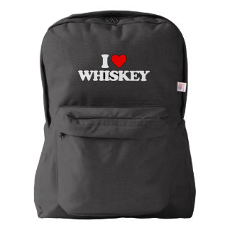 I LOVE WHISKEY BACKPACK