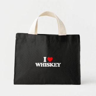 I LOVE WHISKEY TOTE BAG