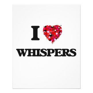 I love Whispers 11.5 Cm X 14 Cm Flyer