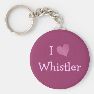 I Love Whistler Basic Round Button Key Ring