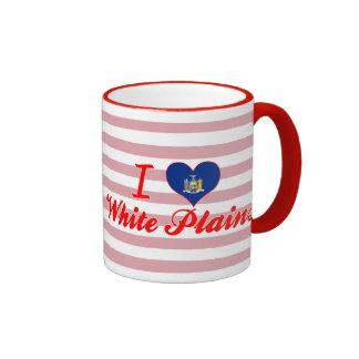 I Love White Plains, New York Ringer Mug