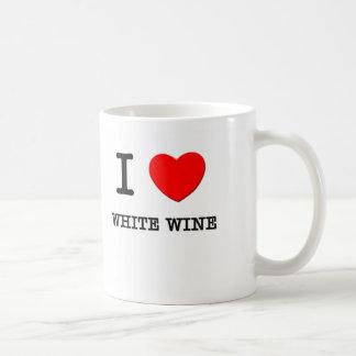 I Love White Wine Coffee Mugs