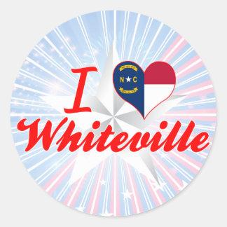 I Love Whiteville, North Carolina Stickers