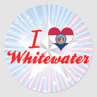I Love Whitewater Missouri Round Stickers