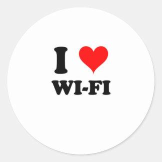 I Love Wi-Fi Classic Round Sticker