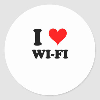 I Love Wi-Fi Round Sticker