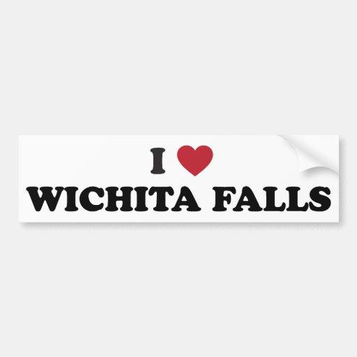 I Love Wichita Falls Texas Bumper Sticker