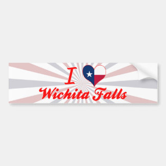 I Love Wichita Falls, Texas Bumper Sticker