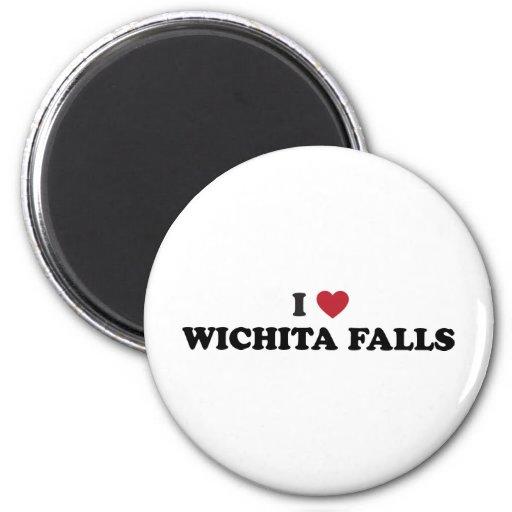 I Love Wichita Falls Texas Refrigerator Magnets