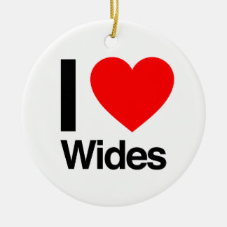 i love wides christmas ornaments