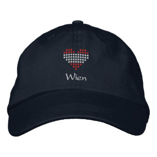I Love Wien Cap - Austrian Heart Flag Hat Embroidered Hats