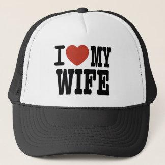 I LOVE WIFE TRUCKER HAT